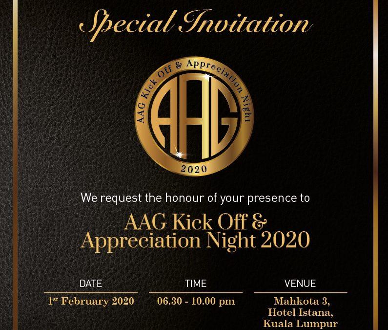AAG KICK OFF & APPRECIATION NIGHT 2020
